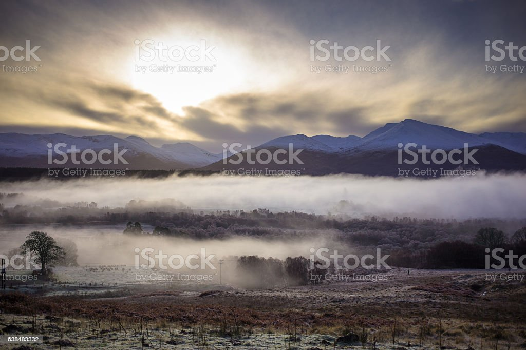 Foggy Winter Morning in Spean Bridge - Photo