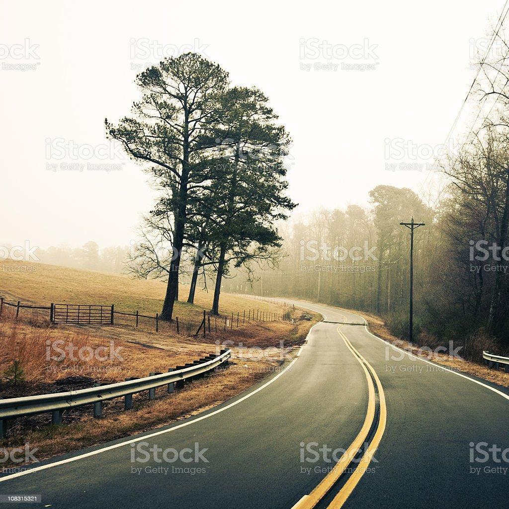foggy winter morning royalty-free stock photo