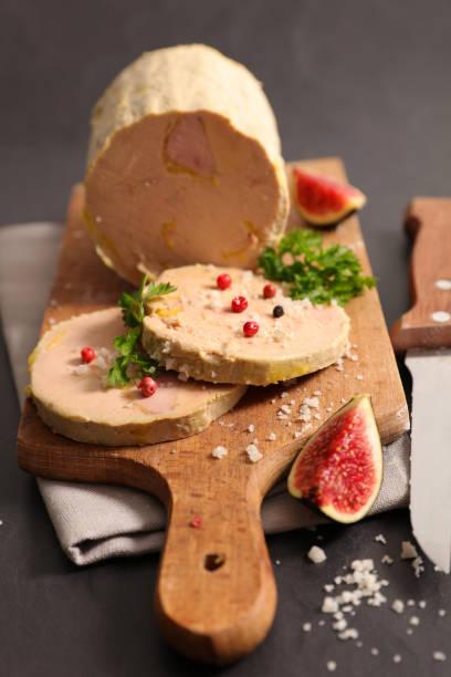 foie gras et de la figue - foie gras photos et images de collection