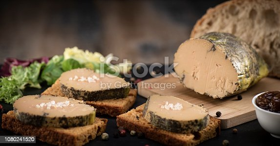 istock Foie gras and gingerbread cake, Bordeaux, France 1080241520