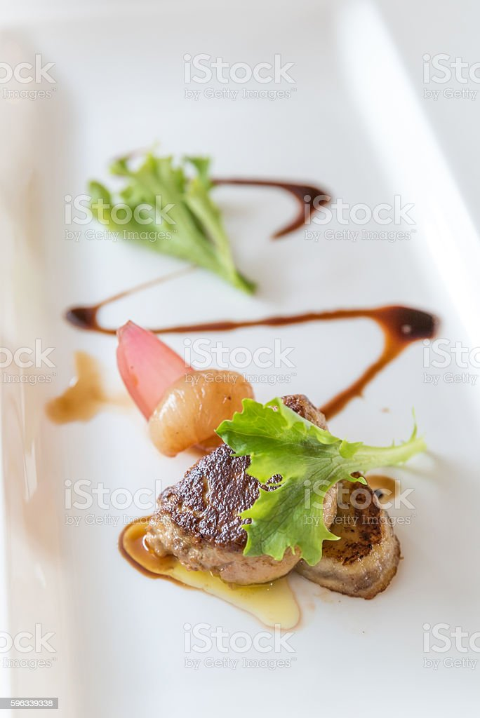Foie gras, grilled royalty-free stock photo