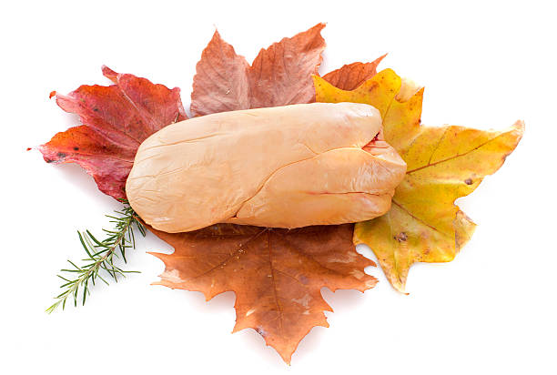 foie gras à feuilles - foie gras photos et images de collection