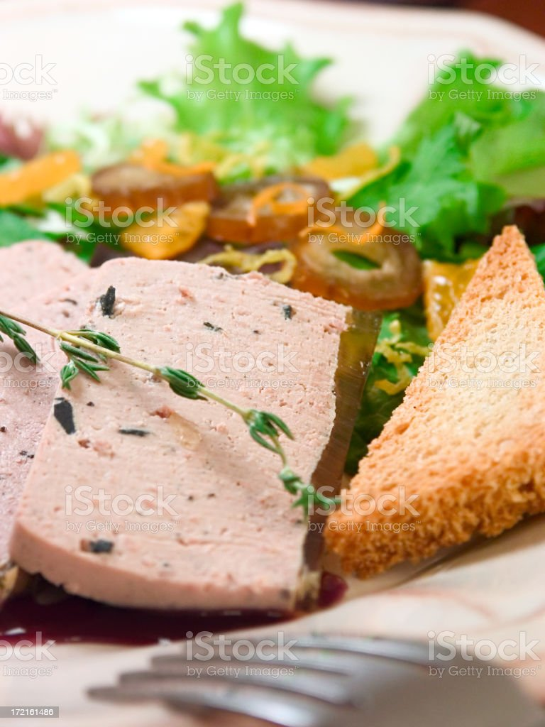 Foie Gras Salad royalty-free stock photo