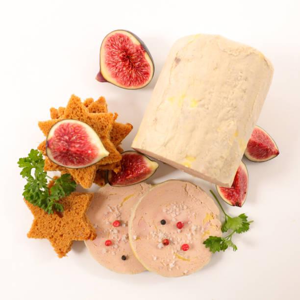 foie gras aux figues et pain d'épice - foie gras photos et images de collection