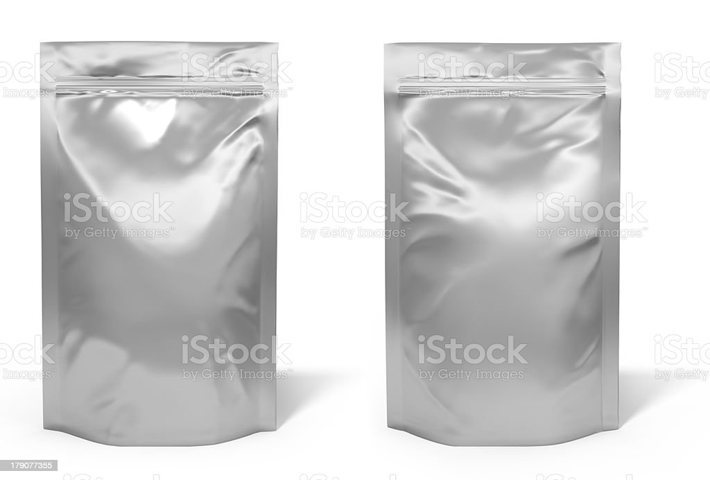 Foil bag package stock photo