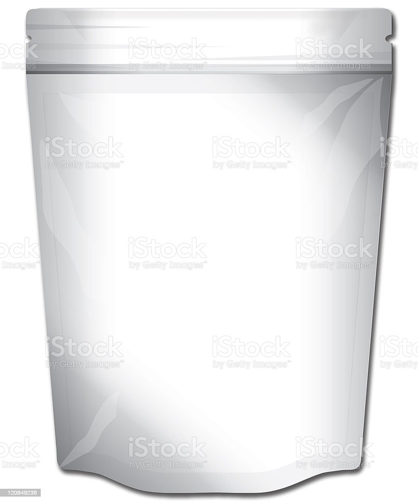 Foil Food Bag stock photo