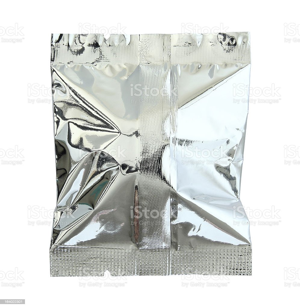 Foil package (clipping path) royalty-free stock photo