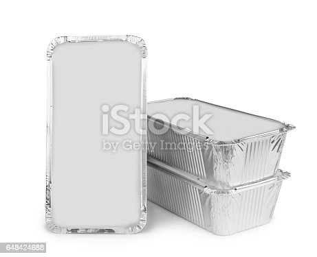 istock Foil tray for food 648424688
