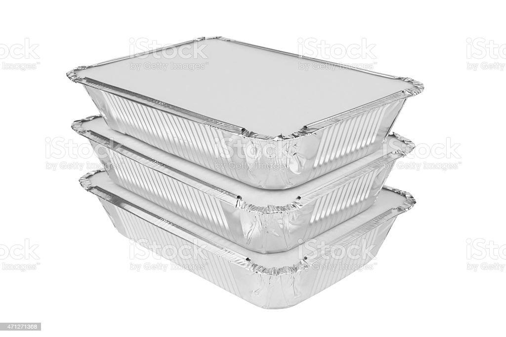 Foil trays stock photo