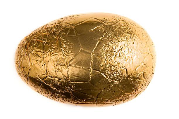 호일 랩드 부활제 알류 - 부활절 달걀 뉴스 사진 이미지