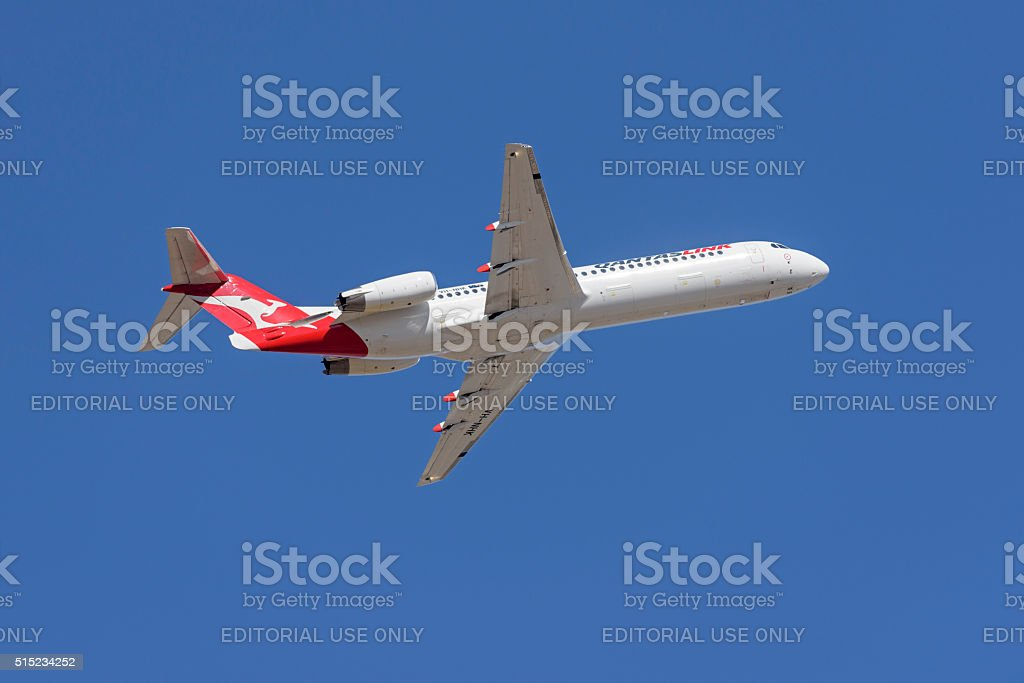 Fokker 100 VH-NHK from Quantas Link stock photo