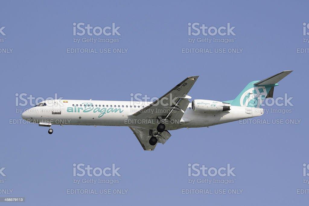Fokker F100 royalty-free stock photo