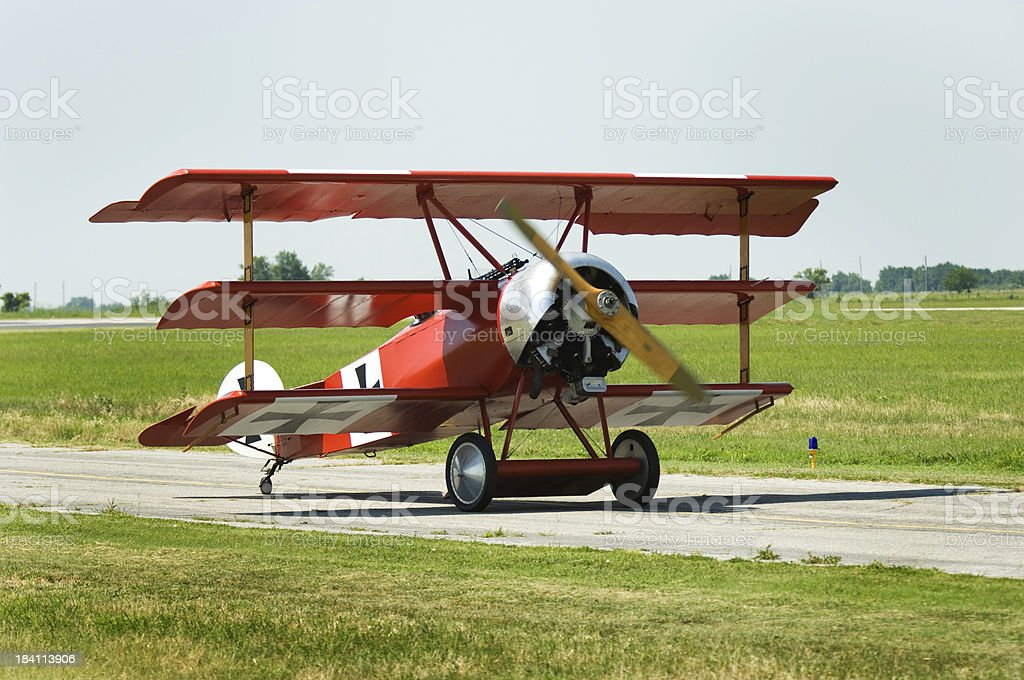 Fokker Tri-Plane stock photo