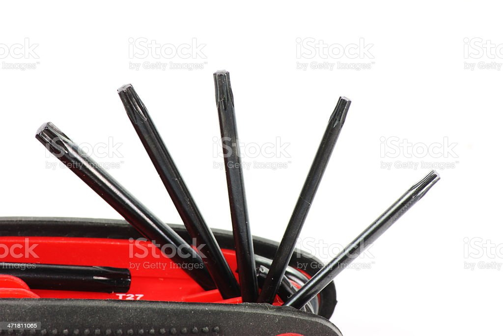 foldable six star screwdriver clos up stock photo