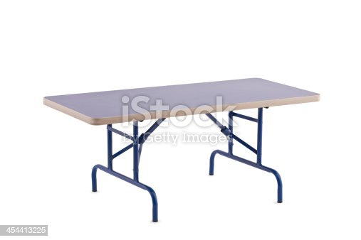 Foldable Table, Isolated on White with Clipping Path,Furniture