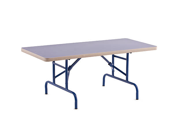 Foldable Table Foldable Table, Isolated on White with Clipping Path,Furniture foldable stock pictures, royalty-free photos & images