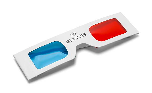 Folded 3D Glasses stock photo