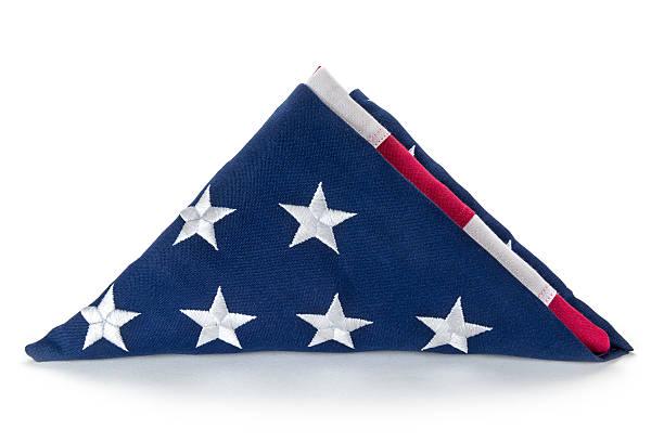 Gefaltet Amerikanische Flagge – Foto