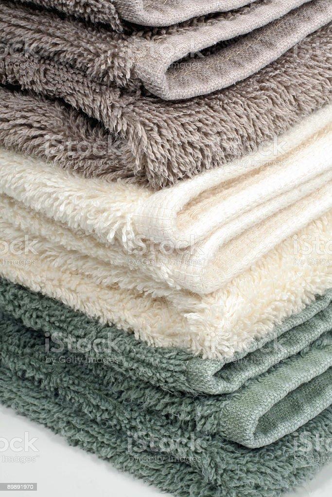 Folded Bath Towels royalty-free stock photo