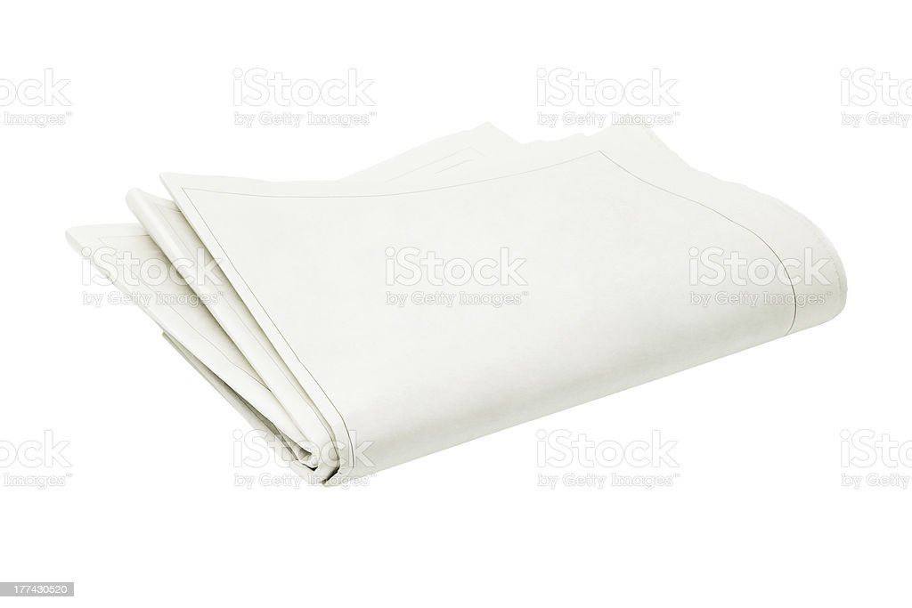 Folded Blank Newspaper royalty-free stock photo