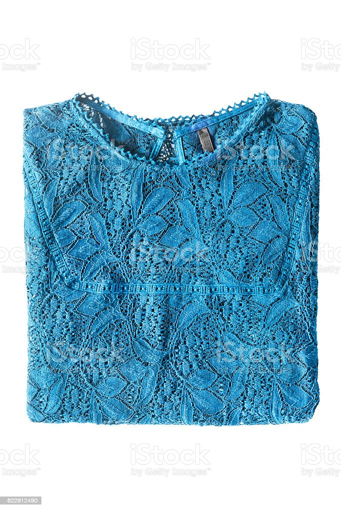 Folded blouse isolated stock photo