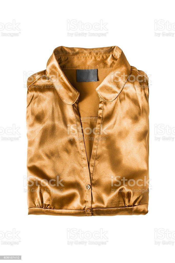 Folded blouse isolated - foto de acervo