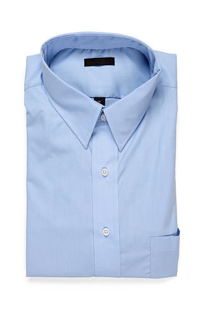 Dobradas camisa masculina azul - foto de acervo