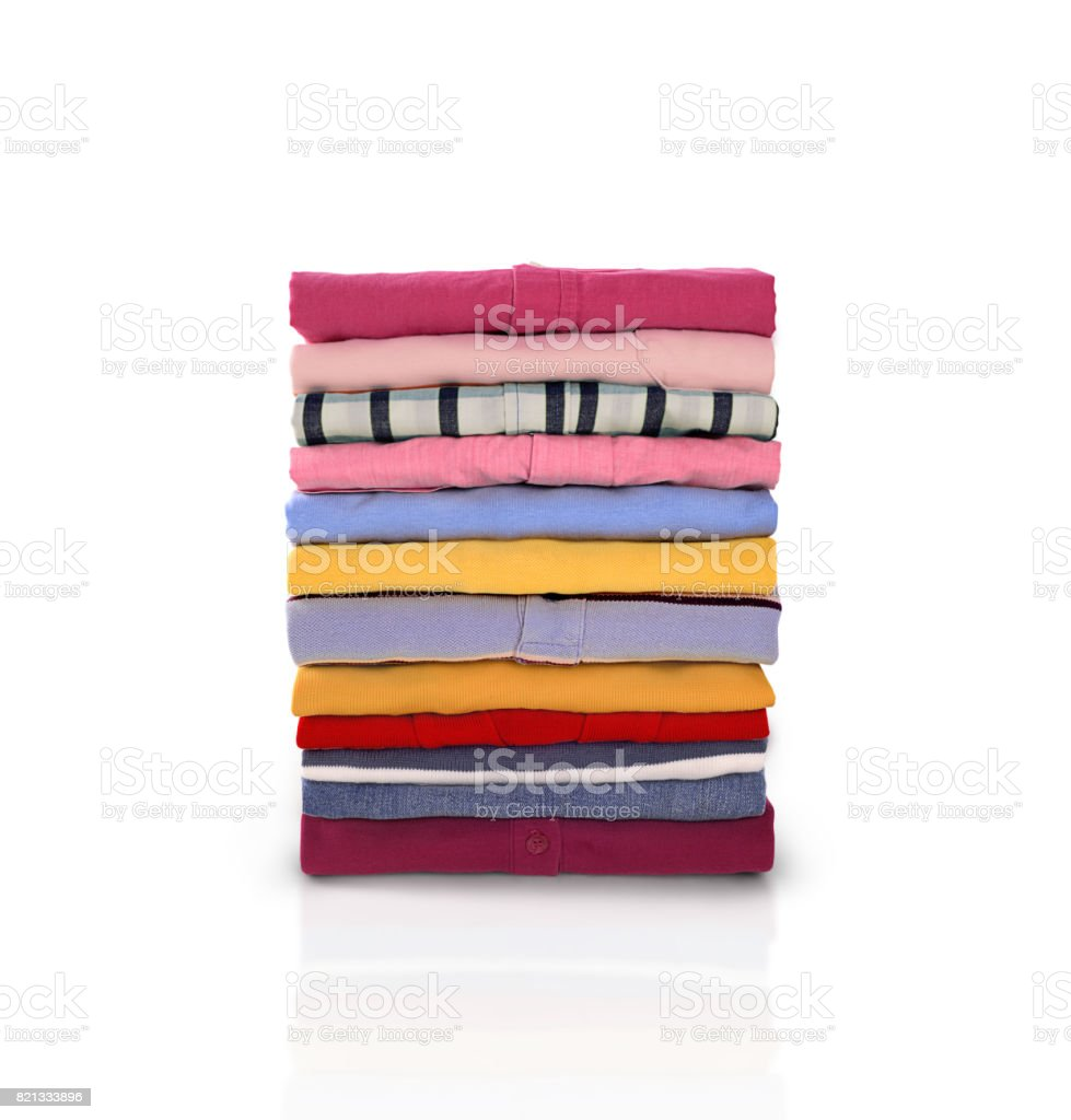 Folded clothes stock photo