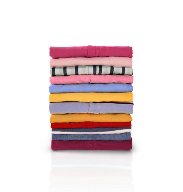 folded clothes - garment stock photos and pictures