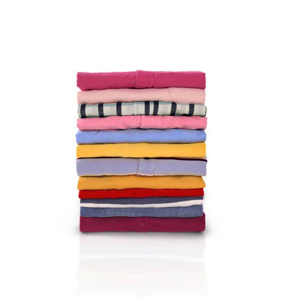 Folded clothes stock photo