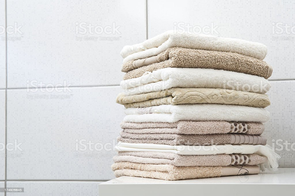 Folded Colorful Towels royalty-free stock photo
