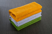 istock Folded Colorful Towels 183383538