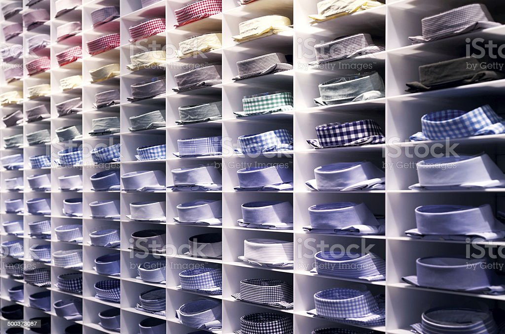 Folded colourful shirts stock photo