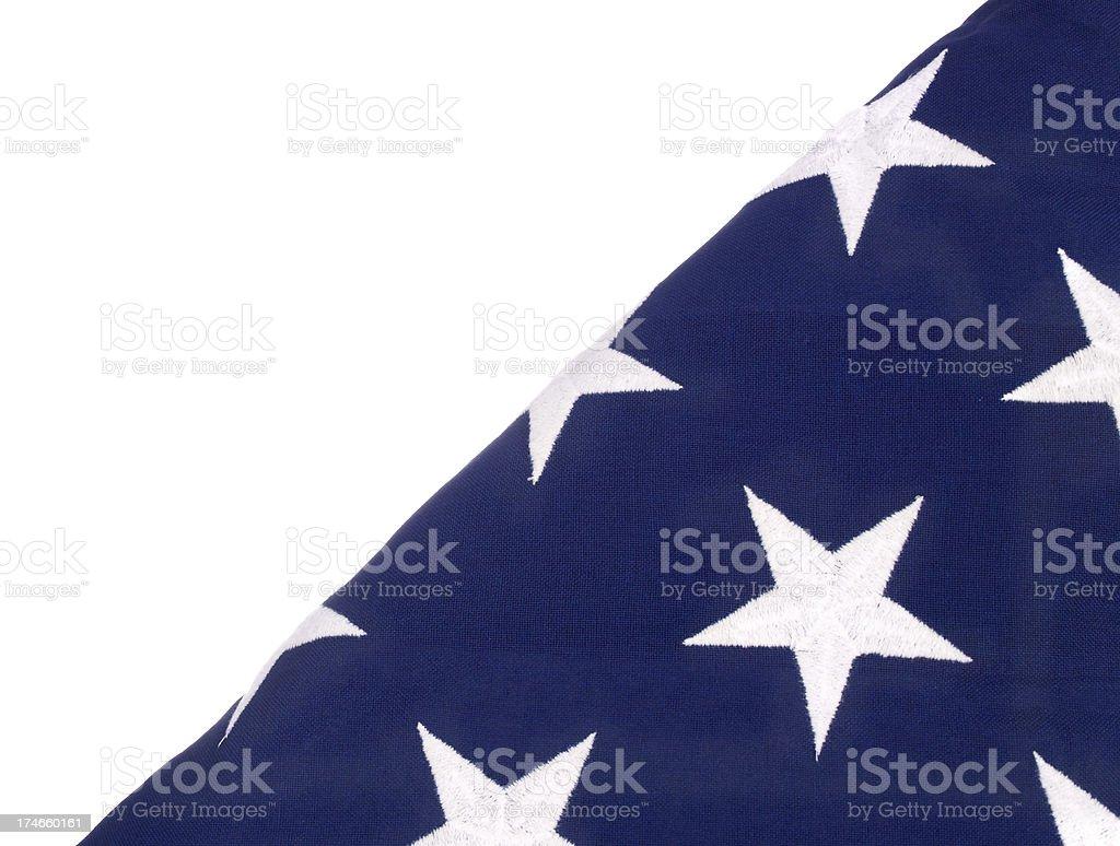 USA Folded Flag royalty-free stock photo
