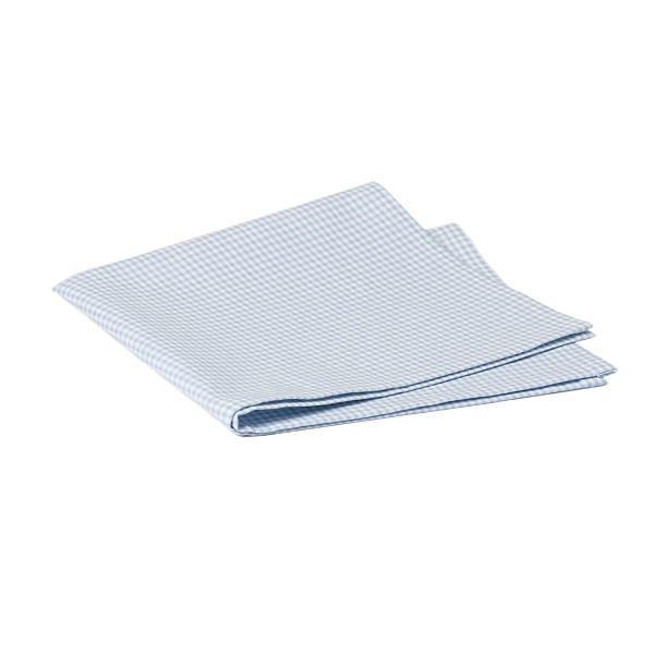складные гингем хлопок napkin изолированные на белом фоне - rbg стоковые фото и изображения