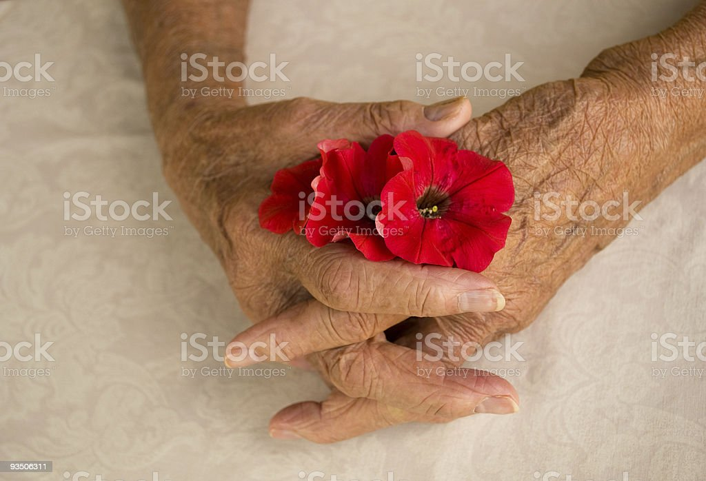 folded hands elder royalty-free stock photo
