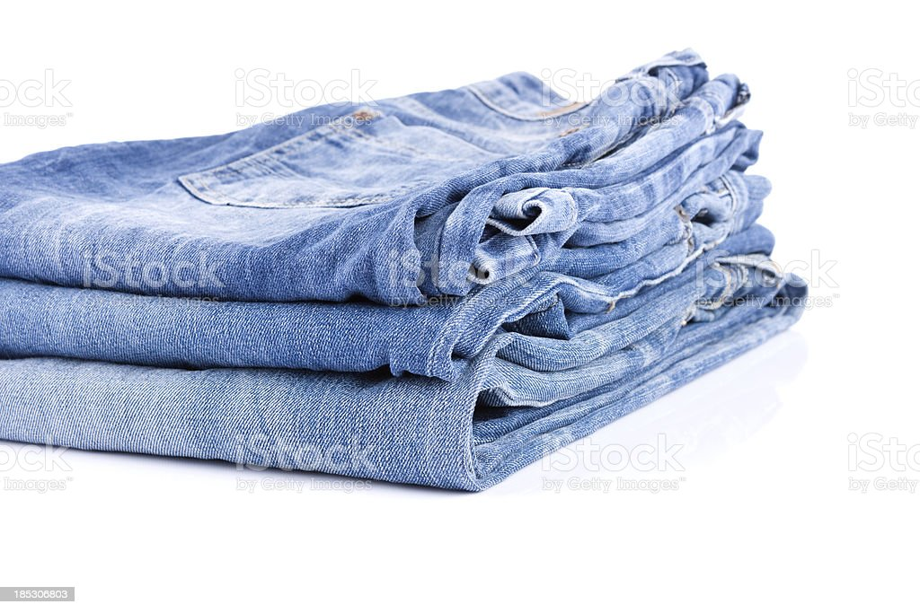 Folded jeans royalty-free stock photo