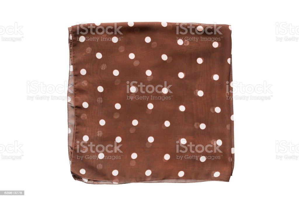 Folded kerchief isolated stock photo