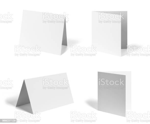 folded leaflet white blank paper template book desktop calendar