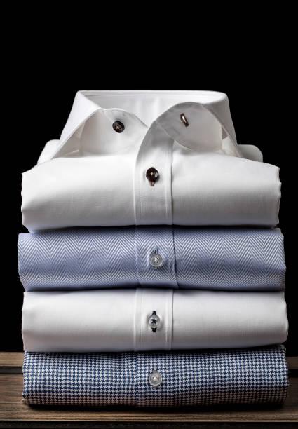 Folded Men's Shirts stock photo
