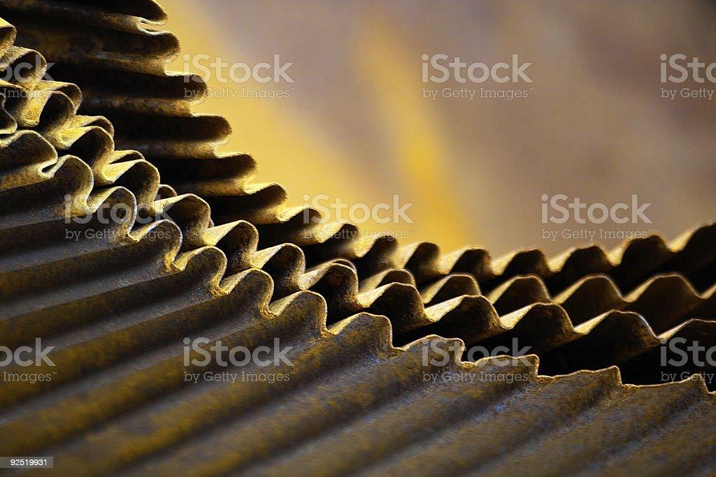 Folded Metal royalty-free stock photo