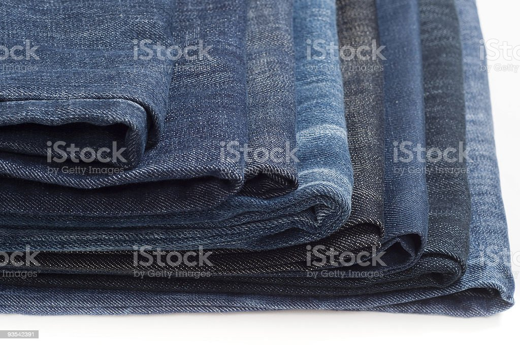 Folded New Blue Jeans royalty-free stock photo