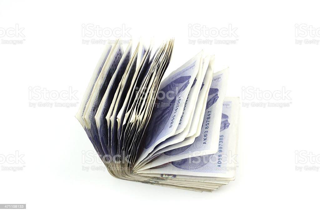 Folded notes royalty-free stock photo