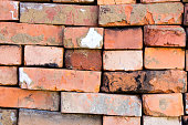 folded old red brick background