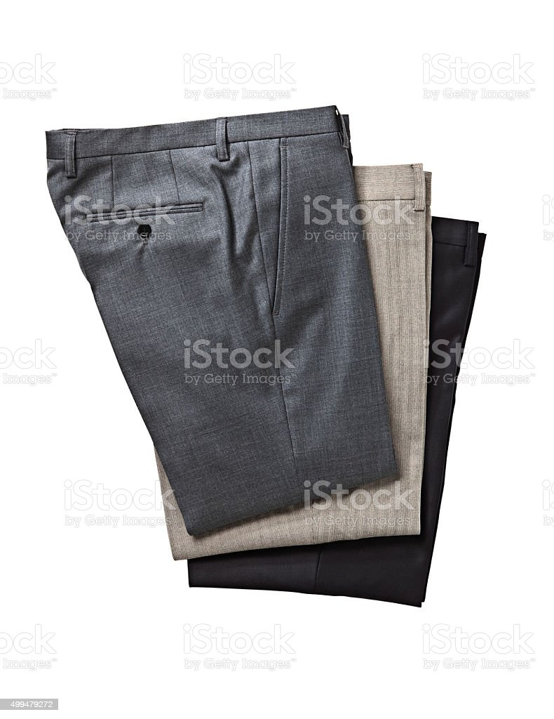 folded pants stock photo
