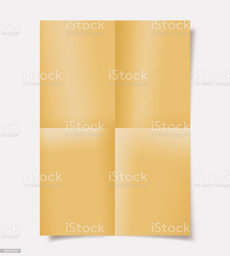 Plié de papier avec ombres - Photo