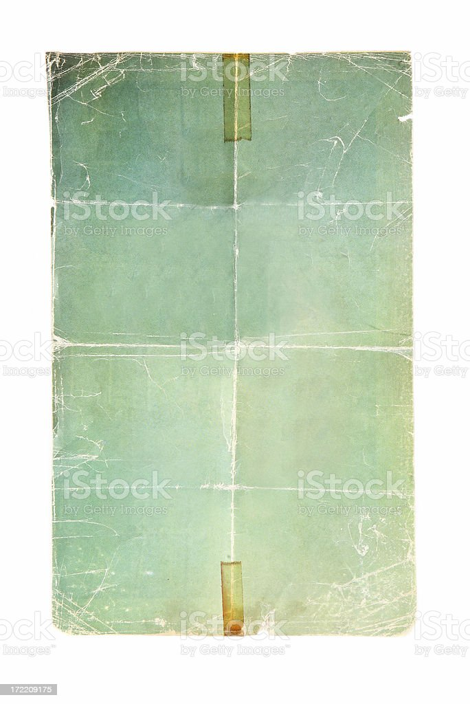 Folded Poster Background stock photo