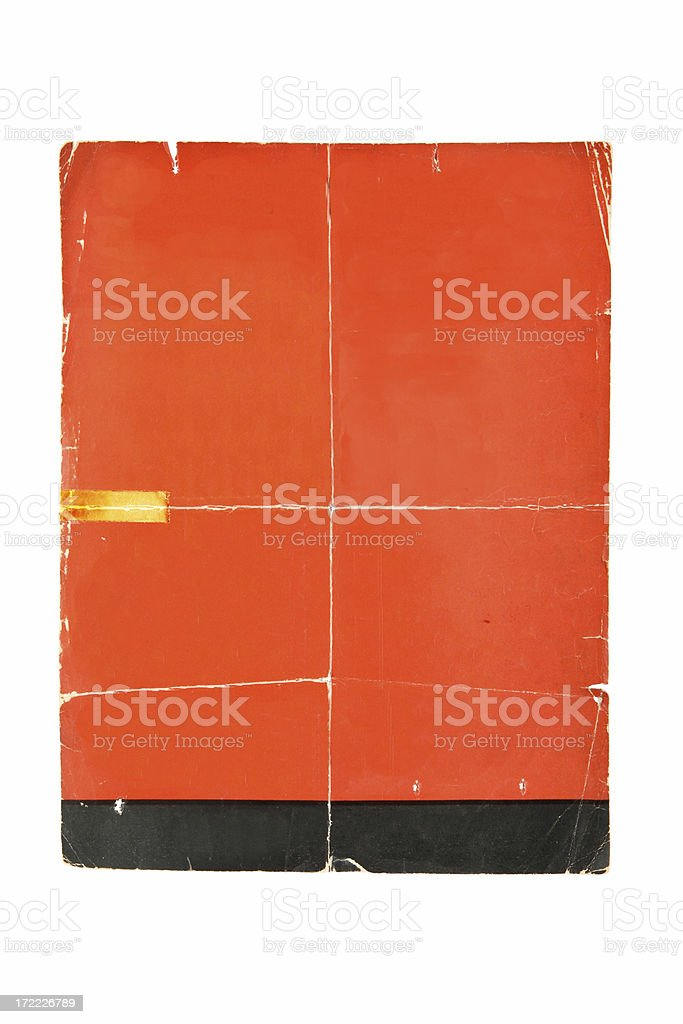 Folded Poster Background royalty-free stock photo