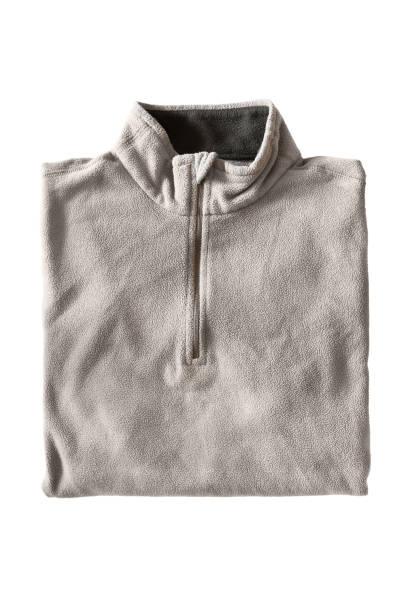 gefaltete pullover isoliert - fleecepullover stock-fotos und bilder