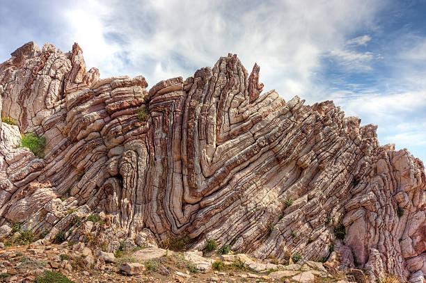 składany rock - geologia zdjęcia i obrazy z banku zdjęć